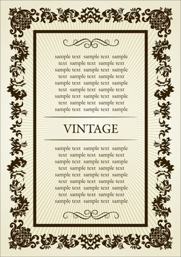 frame template symmetrical vintage decor classical curves