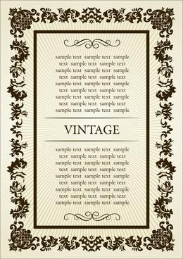 frame template symmetrical vintage decor classical curves