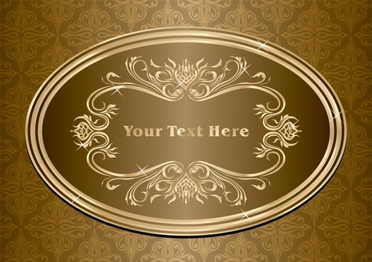 decorative background classical repeating pattern sparkling oval label