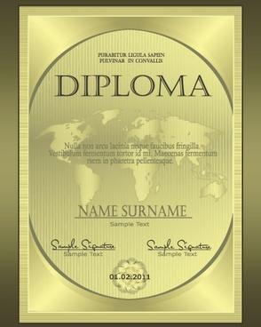 european certificate 01 vector