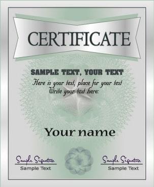 european certificate 02 vector
