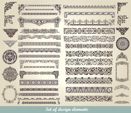 european classic lace pattern 01 vector
