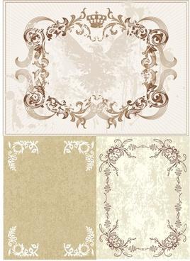european classic lace vector