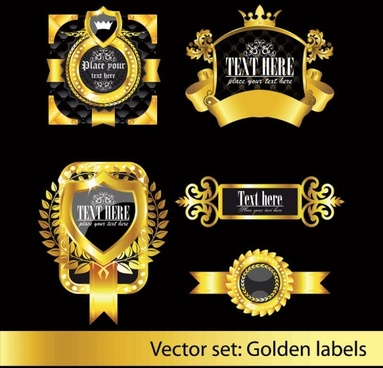 european classic pattern label 02 vector
