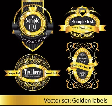 european classic pattern label 03 vector