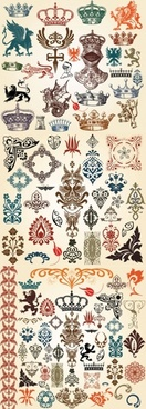 european classic pattern totem vector