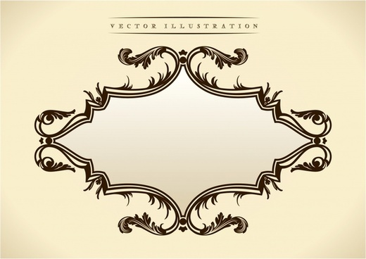 european frame template classical elegant seamless decor