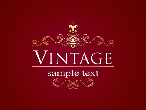 decorative background elegant vintage symmetric curves decor