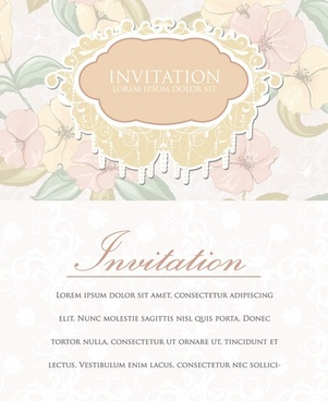 european classical flowers vector 2 cover