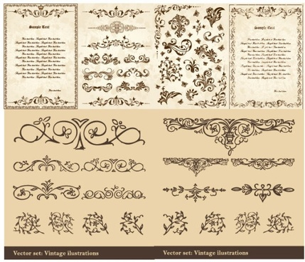 european classical pattern vector