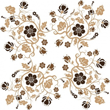 flowers pattern repeating seamless symmetrical decor