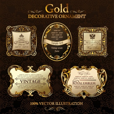 vintage label template elegant luxury european golden decor