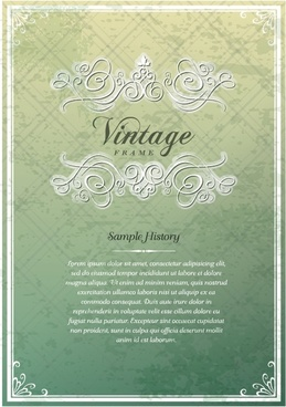 cover background template elegant vintage symmetric elements