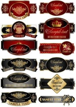 european decorative label vector graphic