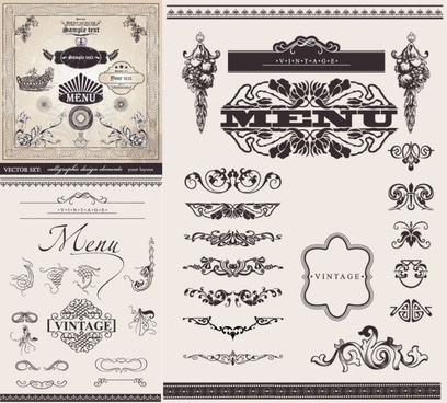 european decorative lace pattern vector
