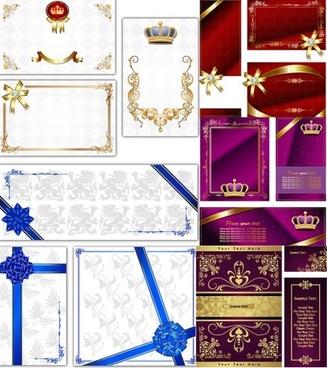 european fine card background vector