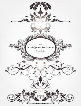 document decorative elements european vintage formal symmetric shapes
