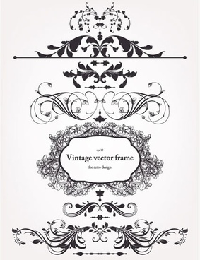 frame decorative elements elegant classic european symmetric design