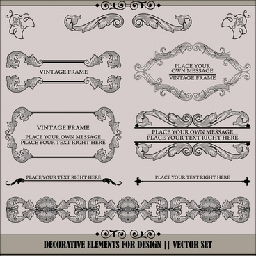 certificate decorative elements elegant classic european design