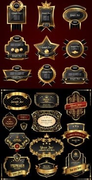 european gold label vector