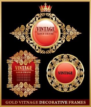 frame templates elegant luxury golden symmetric seamless decor