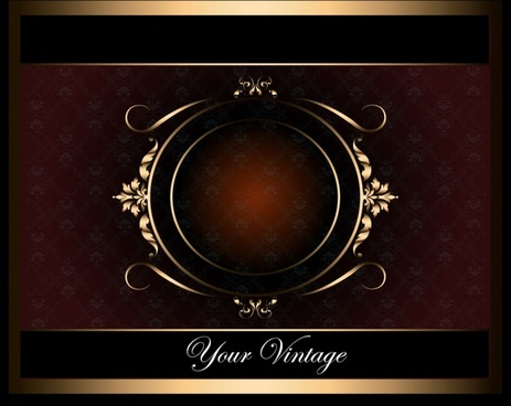 card background template elegant dark brown symmetric decor