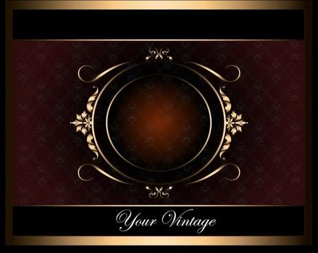 card background template elegant dark brown symmetric decor