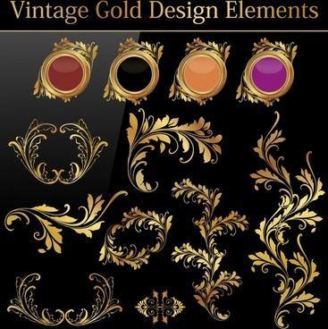european gold pattern vector