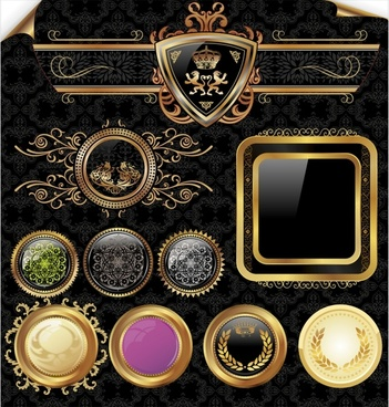 luxury decorative templates shiny colored royal decor