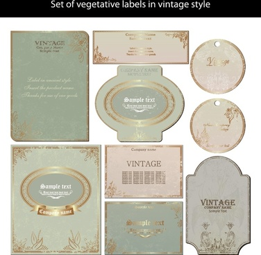 labels templates shiny retro shapes decor