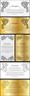 european gorgeous certificate template pattern vector