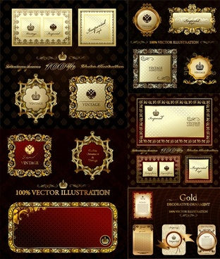 european gorgeous classic frame vector