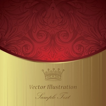 european gorgeous classic pattern background 02 vector