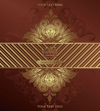 european gorgeous classic pattern background 04 vector