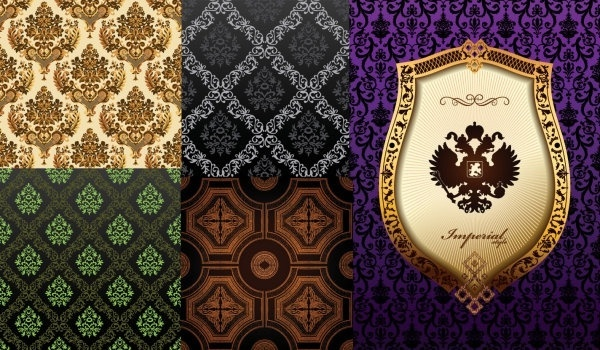 european gorgeous classical pattern vector background