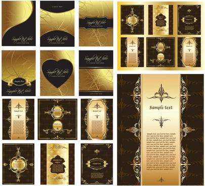 european gorgeous layout design pattern vector