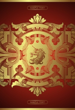 royal background elegant western classical symmetric horse decor