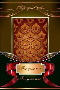 european gorgeous pattern frame 01 vector