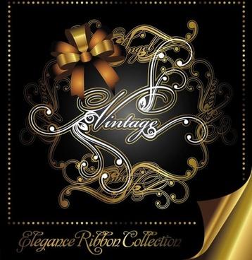 european gorgeous pattern label 04 vector