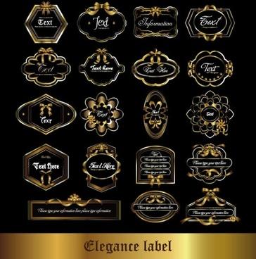 european gorgeous pattern label 05 vector
