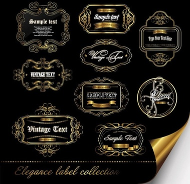european gorgeous pattern of label 01 vector