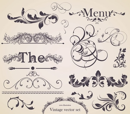 european gorgeous restaurant menu pattern vector 1