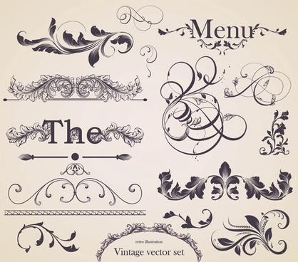 european gorgeous restaurant menu pattern vector 1