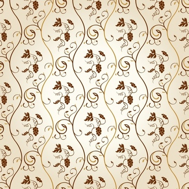 decorative pattern elegant european classic repeating fruits leaves