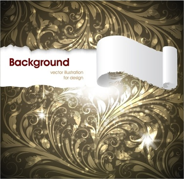 torn paper background twinkling elegant pattern decor