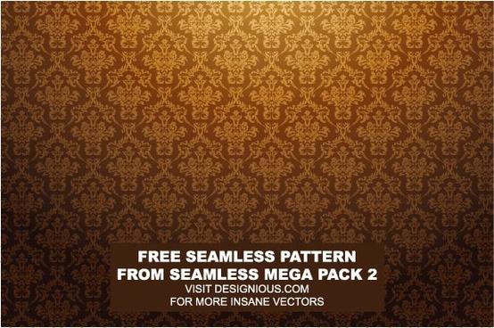 european gorgeous tiled background pattern vector