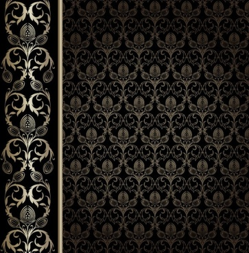 european gorgeous wallpaper background pattern vector