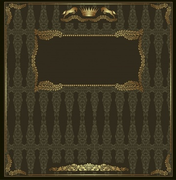 document cover template retro luxury european royal decor