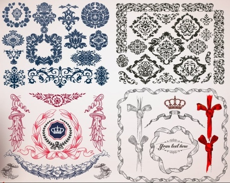 european lace border vector