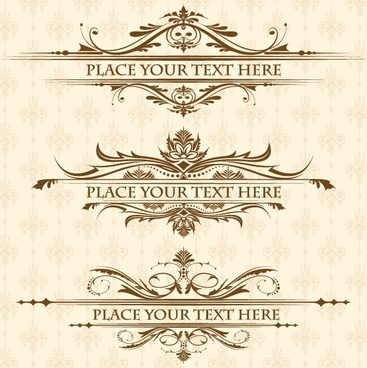european lace pattern 01 vector